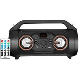 Caixa de Som Portátil BLUETOOTH/RÁDIOFM/USB/AUX Bateria Recarregável Bivolt 60w - Lenoxx