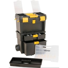 Caixa Ferramentas Plastica Com Roda Crv 0100 Vonder