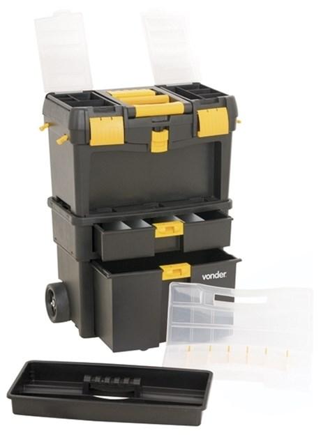 Caixa Organizadora De Ferramentas Com Rodas Crv-0100 Vonder