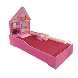 Cama Infantil 2 Prateleiras Casa Play Rosa - Tigus Baby