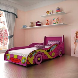 Cama Intantil Carro Fast Pink - Tigus Baby