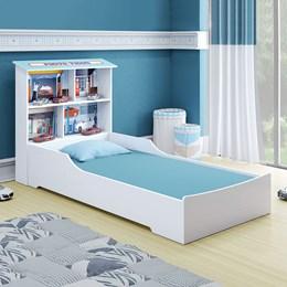 Cama Juvenil Mimus Tigus Baby Branco/Azul