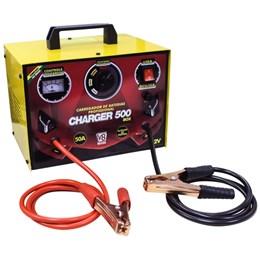Carregador de Bateria Charger 500 Box c/ Auxiliar de Partida  - V8 Brasil