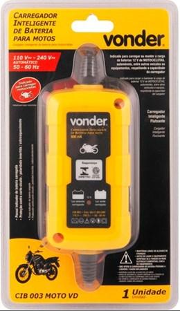 Carregador inteligente de bateria Bivolt moto CIB 003 - VONDER