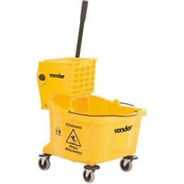 Carro/balde plástico para limpeza com espremedor 32 litros - Vonder