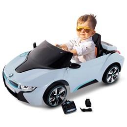 Carro Elétrico BMW 18  Esporte Azul Com Controle Remoto