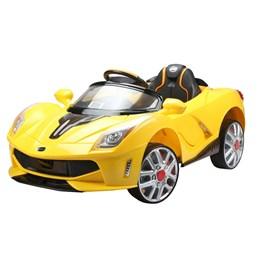 Carro Elétrico Esporte Amarelo Com Controle Remoto 127v