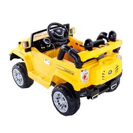 Carro Infantil Jipe Elétrico Trilha Amarelo Com Controle Remoto