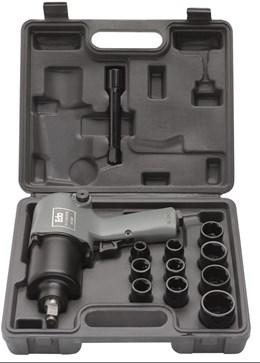 Chave de Impacto Pneumatica  1/2 com Maleta e Kit de Soquetes 9GE EDA