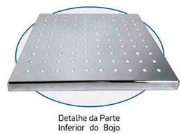 Chuveiro Quadrado Articulável Parede Bojo em Metal e ABS 20cm - Braço 32cm em Metal