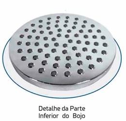 Chuveiro Redondo Articulável Parede Bojo em Metal e ABS 20cm - Braço 41cm em Metal
