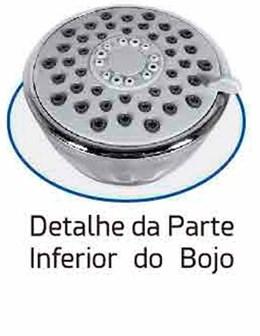 Chuveiro Redondo Articulável Parede Jato Triplo Ajustável Bojo em ABS 8,5cm - Braço 20cm em Metal