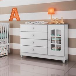 Comoda Fraldario Gabi Branco - Carolina Baby