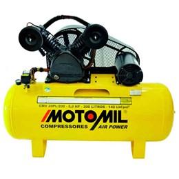Compressor Air Power Trifásico 200L 20 Pés 5,0 HP 220/ 380 V - Motomil
