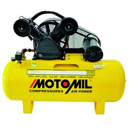 Compressor Air Power Trifásico 200L 20 Pés 5,0 HP 220/ 380 V - Motomil