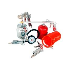 Compressor De Ar 2,5hp 50L 10Pes Bivolt com Kit Pintura - Motomil