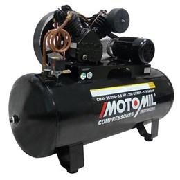 Compressor de Ar 25 Pés 250 Litros 175 Lbs CMAV 25/250 Trifásico 220/380V - Motomil