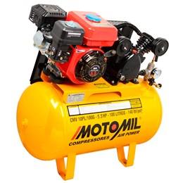 Compressor De Ar a Gasolina 5,5 HP CMV-10PL 100 Litros - Motomil