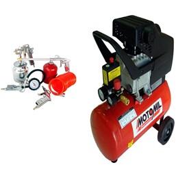Compressor de ar CMI 7,4 24 Litros -  MOTOMIL com Kit de pinturas 5 pçs