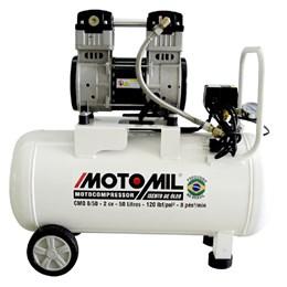 Compressor de Ar Médico Odontológico Branco CMO-8/50 - Motomil