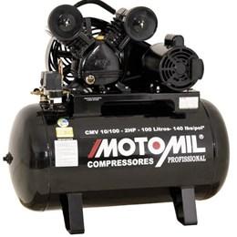 Compressor de Ar Motomil com Motor Monofásico de 2 HP (CMV-10/100)