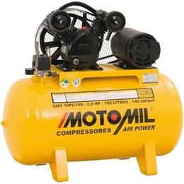 Compressor de Ar Motomil com Motor Monofásico de 2 HP (CMV-10PL/100)