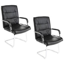 Conjunto 2 Cadeira de Escritório Base Fixa Cromada C107V - Best