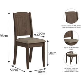 Conjunto 2 Cadeiras Barbara Cimol Marrocos/Suede Marfim