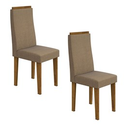 Conjunto 2 Cadeiras Dafne Rovere/Animale Bege Móveis Lopas