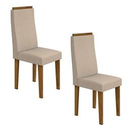 Conjunto 2 Cadeiras Dafne Rovere/Linho Rinzai Bege Móveis Lopas