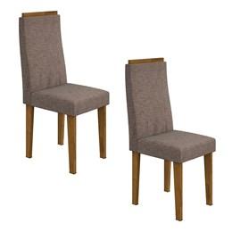 Conjunto 2 Cadeiras Dafne Rovere/Velvet Riscado Castor Móveis Lopas