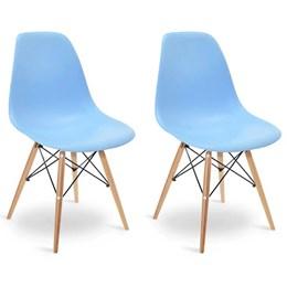Conjunto 2 Cadeiras Eames Azul - Elegance