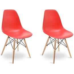 Conjunto 2 Cadeiras Eames Vermelha  - Elegance