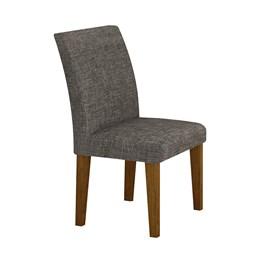 Conjunto 2 Cadeiras Estofadas Olímpia  Imbuia Mel - Leifer
