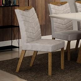 Conjunto 2 Cadeiras Estofadas Verona Ypê/Pena Palha