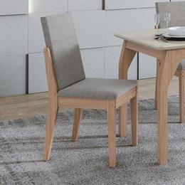 Conjunto 2 Cadeiras Lira Carvalho Naturale/Linho Gris