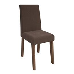 Conjunto 2 Cadeiras Savana/Chocolate Suede Milena Cimol