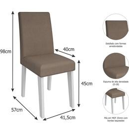 Conjunto 2 Cadeiras Suede Milena Cimol