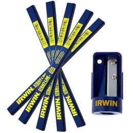 Conjunto 5 Lapis de Carpinteiro Com apontador Irwin