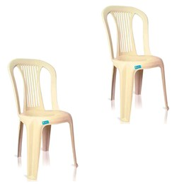 Conjunto de 2 Cadeiras Plásticas Bistrô bege - Antares