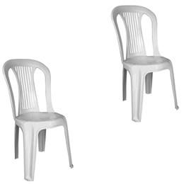 Conjunto de 2 Cadeiras Plásticas Bistrô branca - Antares