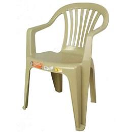 conjunto de 2 Cadeiras Plásticas Poltrona Bege - Antares