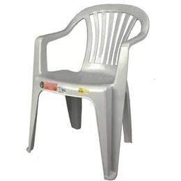Conjunto de 2 Cadeiras Plásticas Poltrona Branca - Antares
