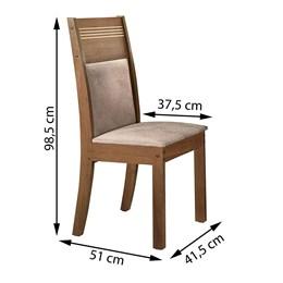 Conjunto de 2 Cadeiras Ravena Chocolate/Suede Animale Cru - Cel Móveis