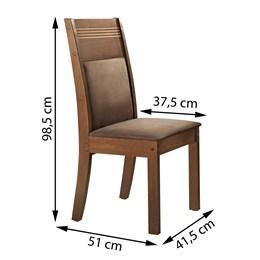 Conjunto de 2 cadeiras Ravena Chocolate/Suede Animale Marrom - Cel Móveis