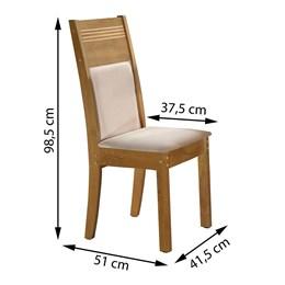 Conjunto de 2 Cadeiras Ravena Ype/Suede Animale Cru - Cel Móveis