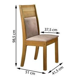 Conjunto de 2 Cadeiras Ravena Ype/Suede Pena - Cel Móveis