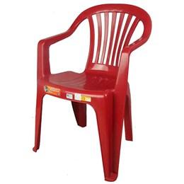 Conjunto de 4 Cadeiras Plásticas Poltrona Vinho - Antares