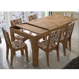 Conjunto de Mesa 100% MDF Extensível com 6 cadeiras - Dalla Costa