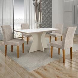 Conjunto de Mesa de Jantar Creta 4 Cadeiras BOWIPP